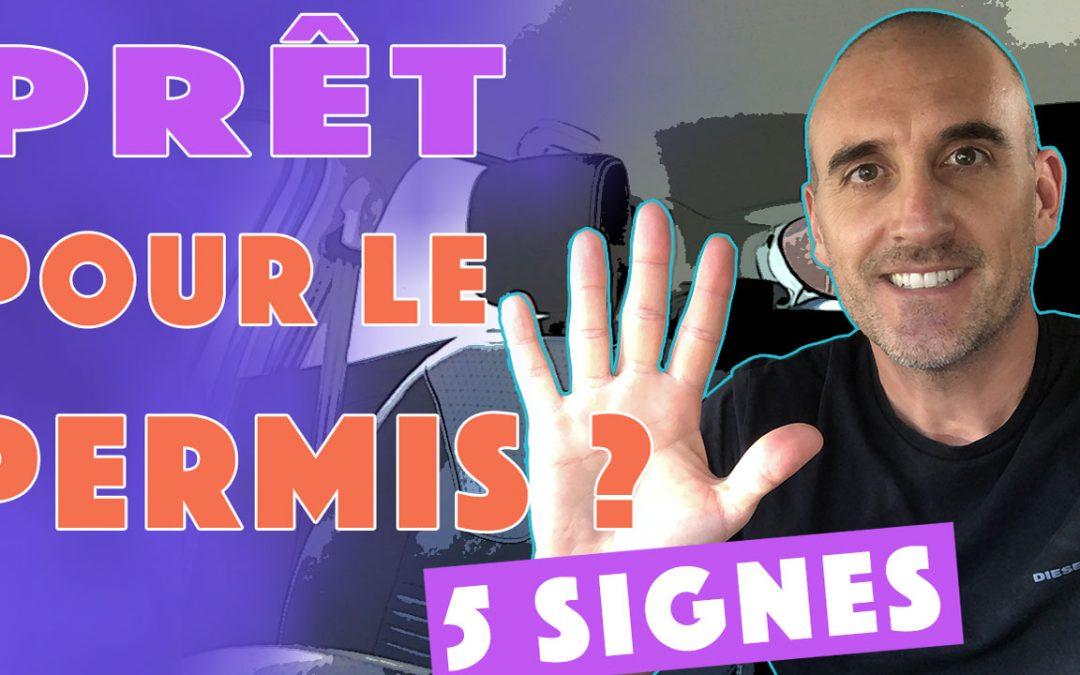 5 signes qui montrent que je suis prêt pour passer le permis